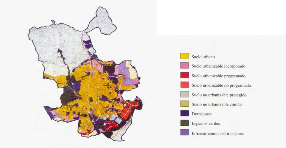 Plano usos de suelos Madrid