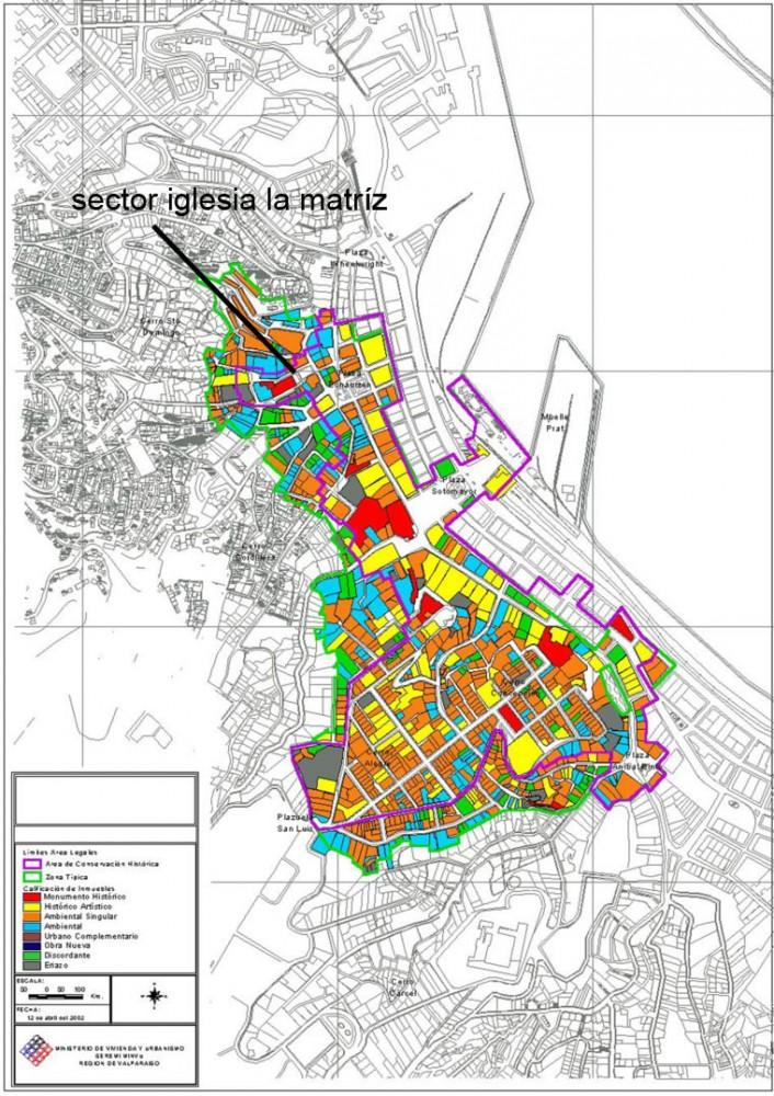 Zonas protegidas y sector la Matriz