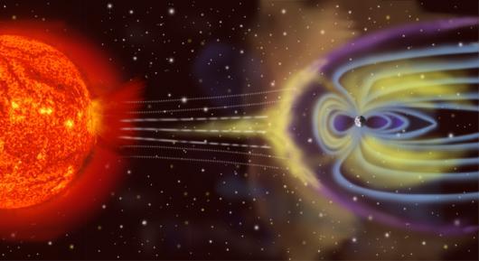 Representación de la Magnetósfera Terrestre