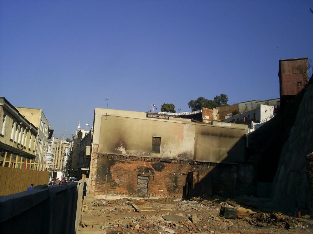 El sitio eriazo producto de la explosión