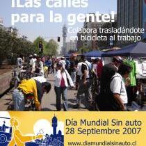 Afiche 1: Dia Mundial sin Auto