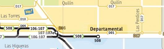 Terminal recorrido 508 Oriente