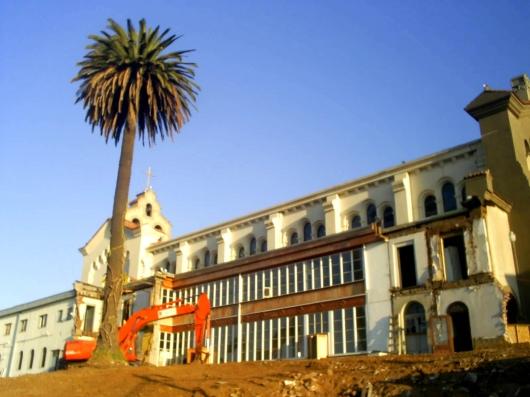 demolición convento de los capuchinos en recreo