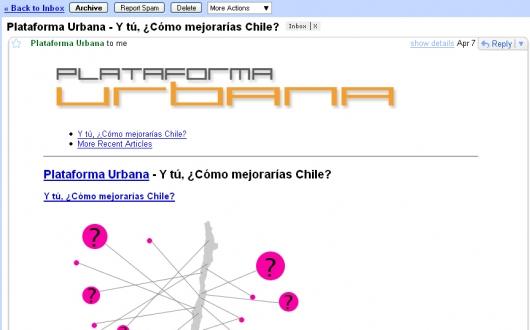 Plataforma Urbana Directo A Tu E Mail Plataforma Urbana