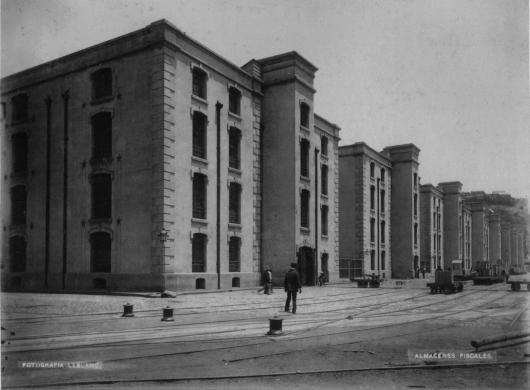 almacenes fiscales hacia fines del siglo XIX