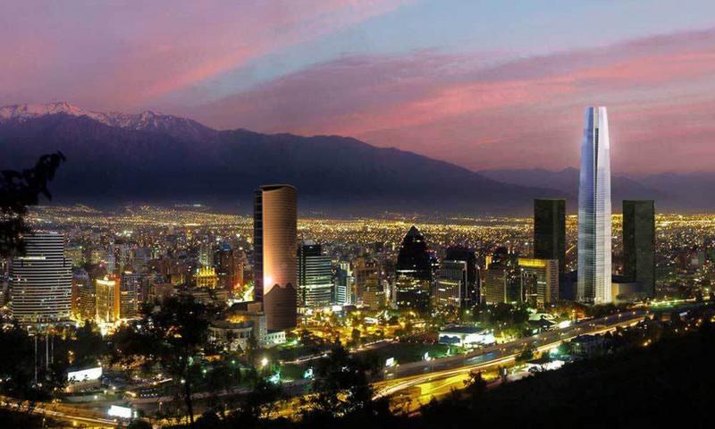 En proyecto tercer rascacielos para santiago parque for Marmolerias en santiago de chile