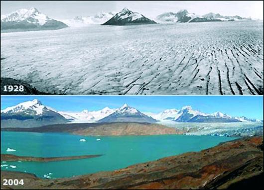 glaciar Upsala en la Patagonia