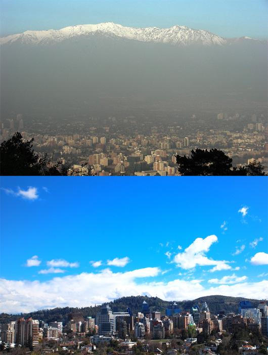 Santiago: son Smog, sin Smog.