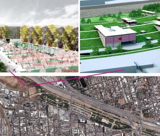 Proyectos para el Parque Los Reyes: Tribunales de Familia (Bruno Giliberto) y Mall (Pablo Mora Echeverría)