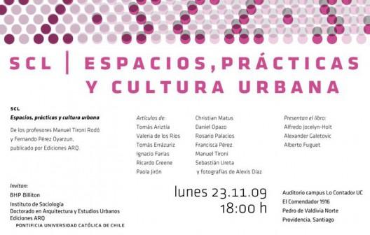 SCL: Espacios, Práctica y Cultura Urbana