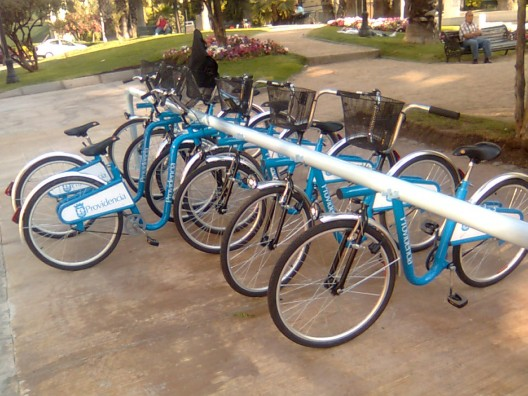 Estación de Bicicletas Públicas en Providencia - vía Panoramio