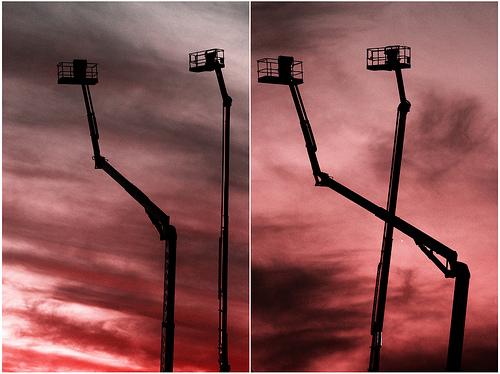 © Foto de Claudio Nuñez - Jirafas ardiendo