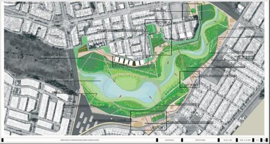 Plano del nuevo Parque Urbano de Valdivia