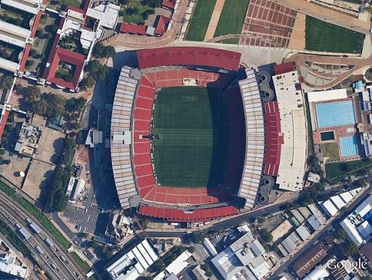 Ellis Park, Johannesburg Image © DigitalGlobe, Google.