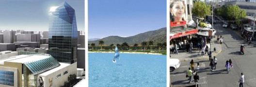 Nuevos malls en concepci n dos lagunas artificiales en for Lagunas artificiales construccion
