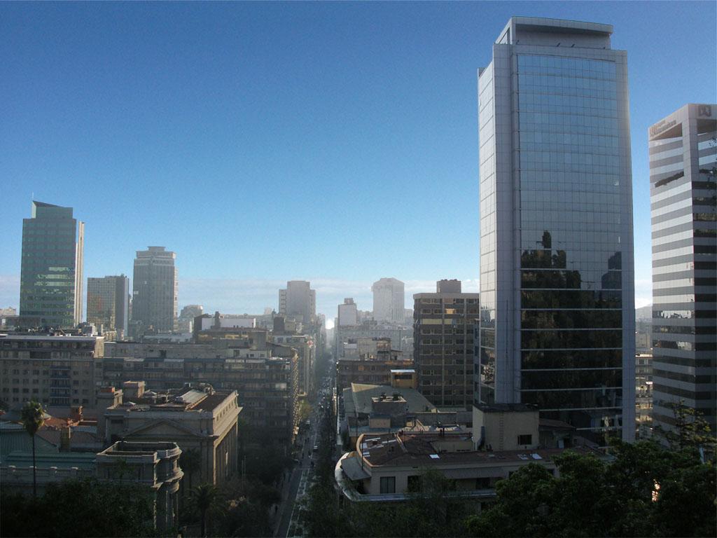 El cambio de Santiago de Chile en 110 años