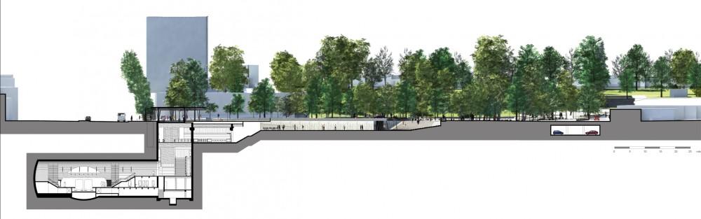 Corte 2 plataforma urbana for Arquitectura nota de corte