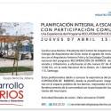 """Conferencia """"Planificación integral a escala barrial con participación comunitaria"""""""