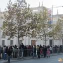Fila de espera para entrar a La Moneda