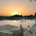 © San Martín y Pascal, Proyecto Sitio Vivo, segundo lugar. Piscina del río