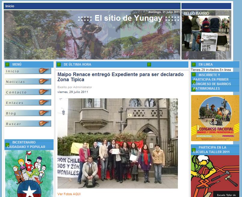 el sitio de yungay