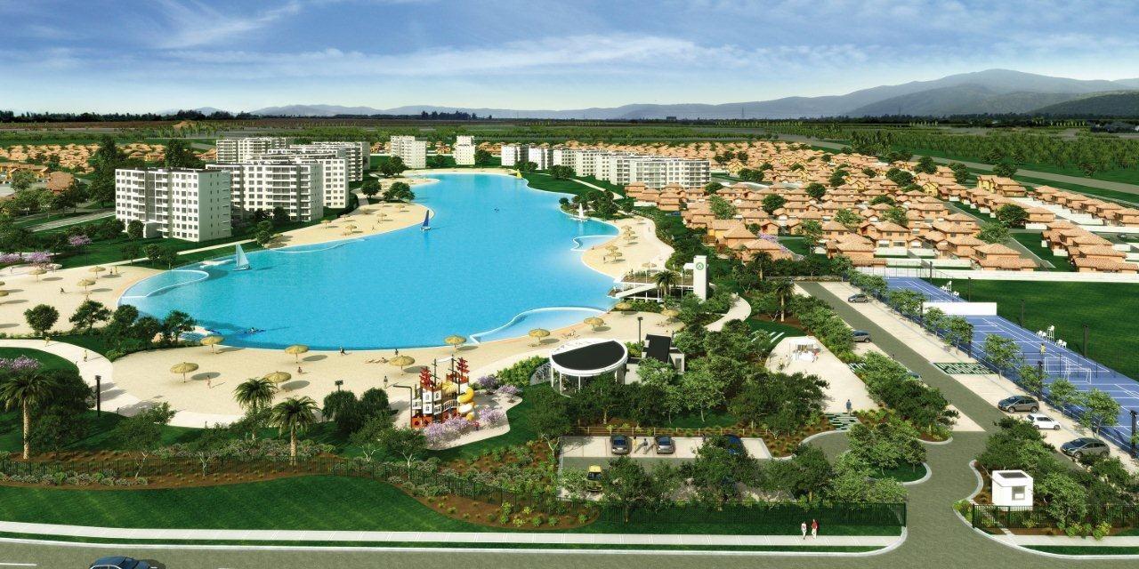 Inauguran laguna navegable en comuna de padre hurtado for Lagunas artificiales construccion