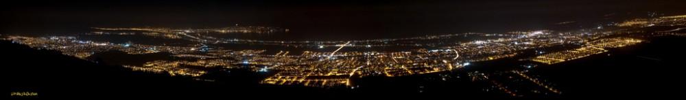 Conurbación La Serena-Coquimbo de noche. Fuente: www.skyscrapercity.com
