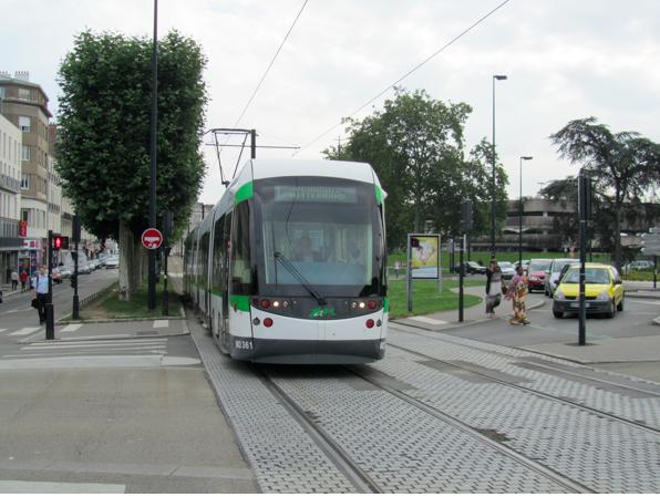 Tranvía de la ciudad de Nantes, Francia. © Natalia Escudero Peña