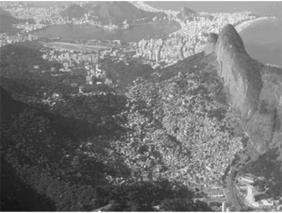 Vista de la Favela Rocinha, Río de Jaineiro