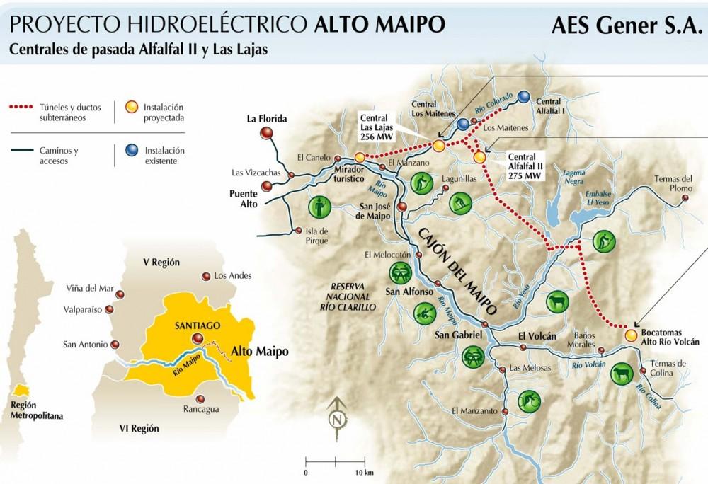 Infografía Proyecto Hidroeléctrico Alto Maipo. Fuente: http://www.aesgener.cl/aesgenerwebneo/index.aspx?channel=6400&appintanceid=17897&pubid=7349