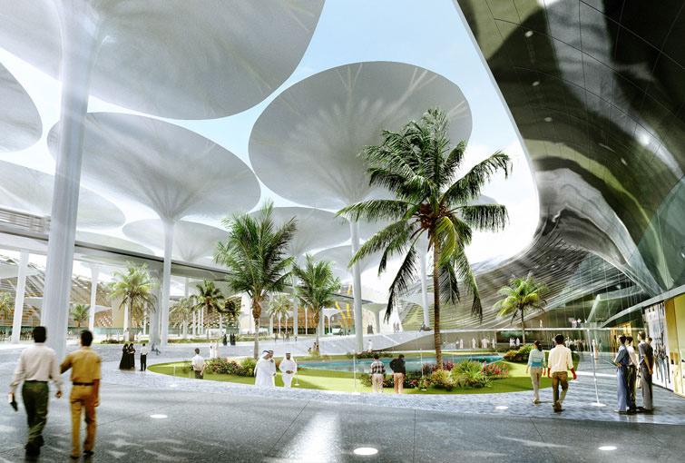 Proyecto para el centro de masdar city plataforma urbana - Upright trees for small spaces concept ...