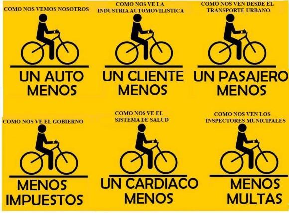 Ciclistas como nos ven