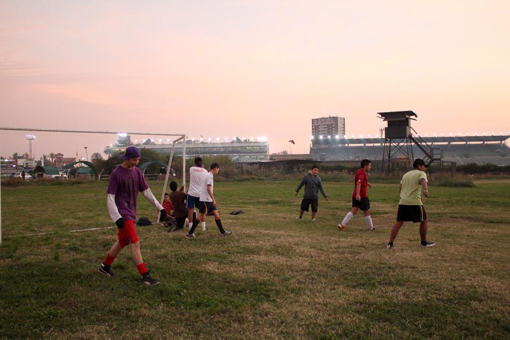 Cancha de fútbol (Se reserva sólo por orden de llegada) © Plataforma Urbana.