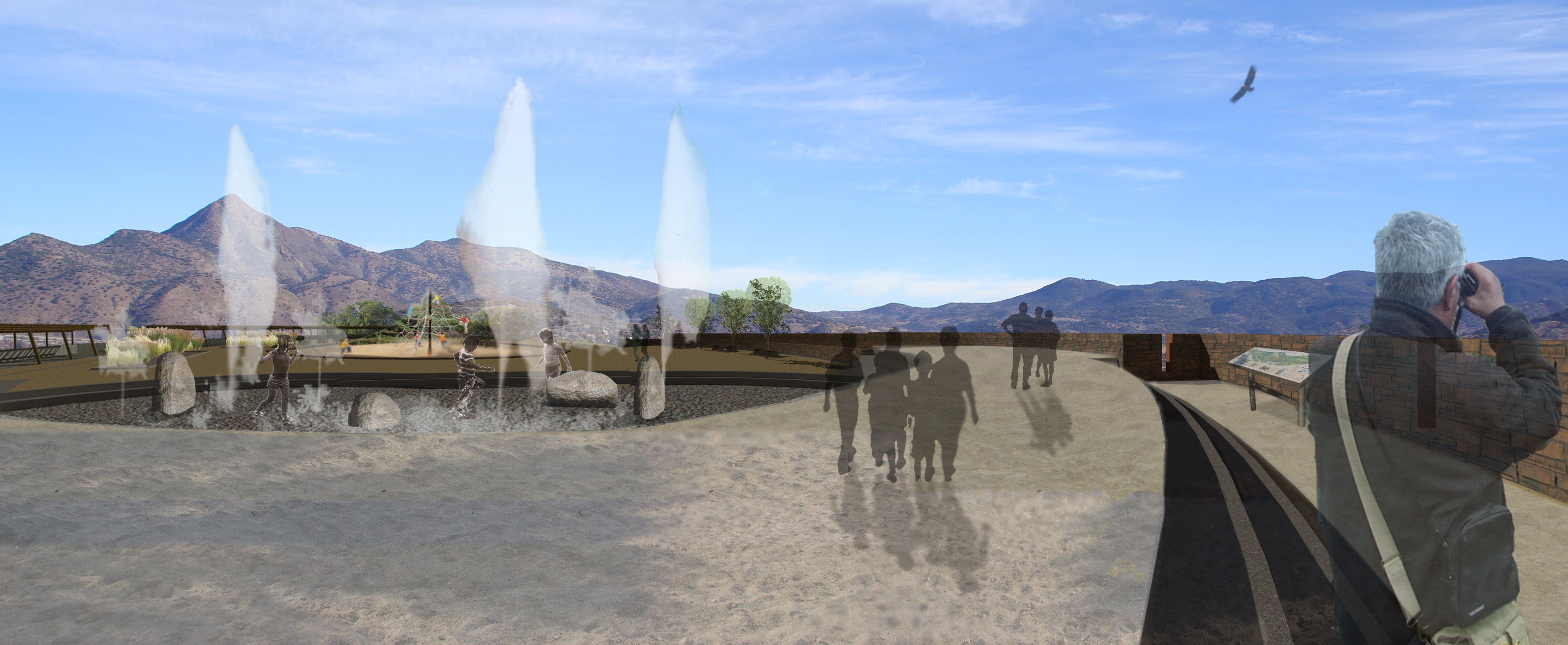 plaza juegos de agua