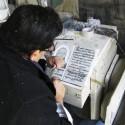 Trabajo en mármol en la calle Valdivieso. © Plataforma Urbana.