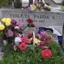 Tumba de Violeta Parra. Patio 102, cercano al acceso por calle Valdivieso. © Plataforma Urbana.