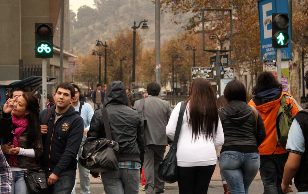 La esquina de Bellavista con Pío Nono es la más concurrida del barrio. © Plataforma Urbana.