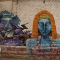 Arte callejero en Pío Nono. © Plataforma Urbana.