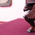 Escritorio del General Juan Mackenna O`Reilly, Abuelo Materno de Benjamín Vicuña Mackenna. Las patas de león en los muebles de la época eran símbolo de la clase alta. © Plataforma Urbana.