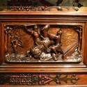 El diseño del mueble para el menaje del comedor fueron encargados por BVM y su esposa con motivos de Carlos VII y Juana de Arco. © Plataforma Urbana.