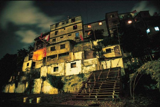 Una comunidad en Treasure Hill, en Taiwan, originalmente destinado a ser demolido, pero conserva como un sitio para la Agricultura Urbana (aunque a costa de sus habitantes originales). Foto © Stephen Wilde, a través de la Fundación P2P