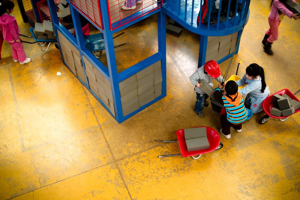 Taller de la construcción. Primer Piso. © Plataforma Urbana.