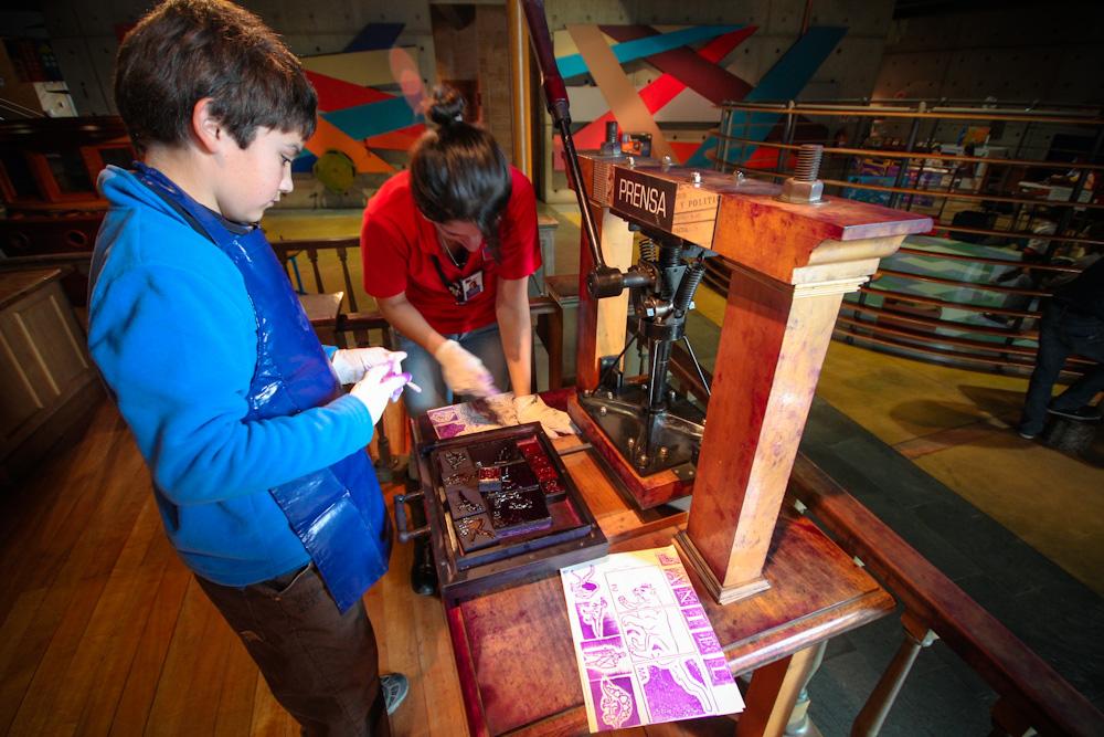 Sala de imprenta para aprender cómo se hacían antiguamente las publicaciones. © Plataforma Urbana.