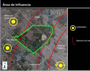 Campo de Mayo y localidades dentro de su área de influencia