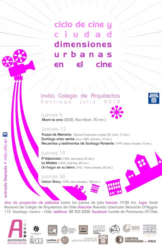 AFICHE Ciclo Cine en Colegio de Arquitectos