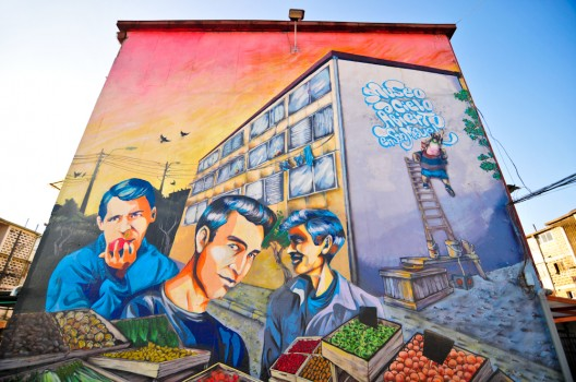 Gu a urbana de santiago museo a cielo abierto en san for Papeles murales en santiago de chile