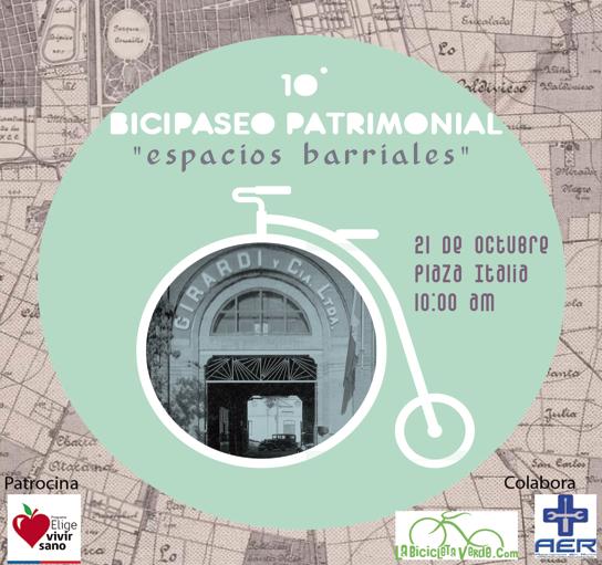 "10º Bicipaseo Patrimonial - ""Espacios Barriales"""