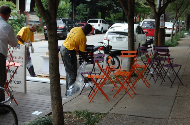 West Philly Parklet. © Philly Bike Coalition; vía flickr.