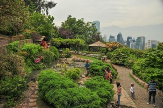 Gu a urbana de santiago parque metropolitano de santiago for Jardin japones de santiago