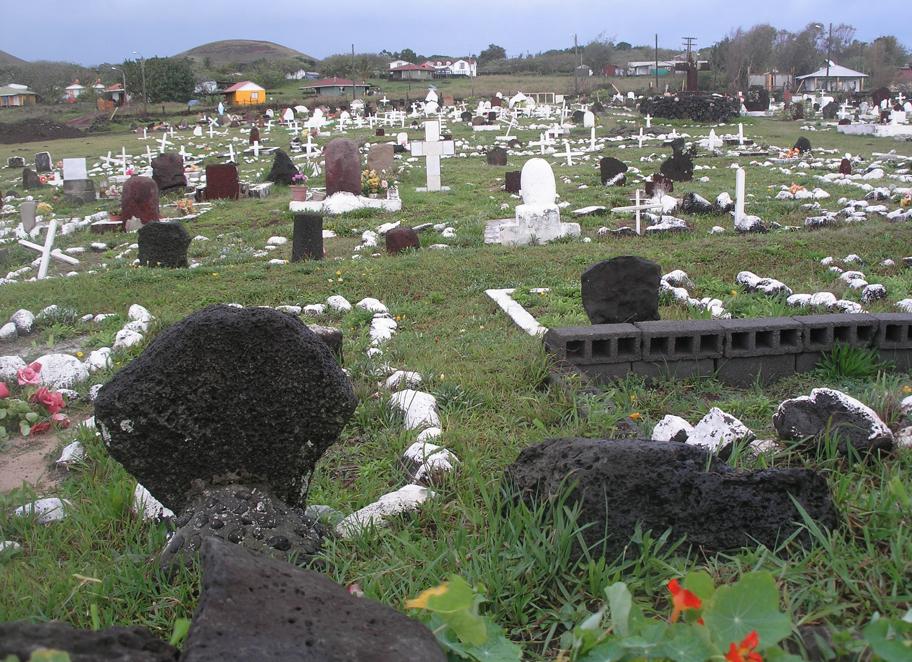 Tamaño Isla de Pascua Cementerio Isla de Pascua